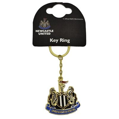 Club Licensed Newcastle Utd Crest Keyring - One Size - United Official Football