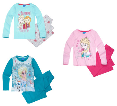 Girls Kids Official Licensed Disney Frozen Long Sleeve Pyjamas PJs