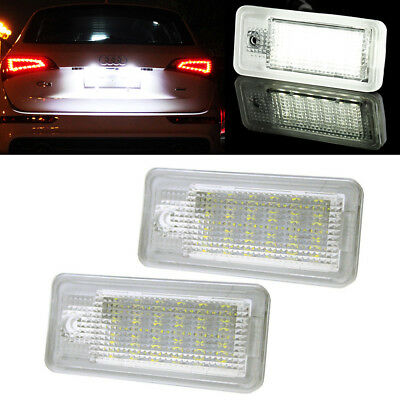 LED Licence Number Plate Light White Error Free For Audi A3 A4 B6 B7 S4 A6 A8 Q7