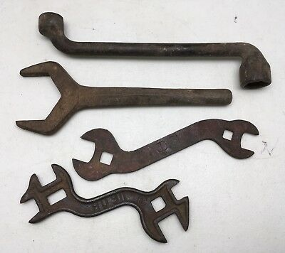 Lot Of 4 Vintage Used Tractor Wrenches Tools Fordson International Harvester JD