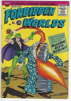 Forbidden Worlds # 128  off-white pages  ACG  1965  Excellent condition :)