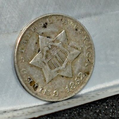1852 Three Cent Silver 3CS - VF-XF Details (#15226)