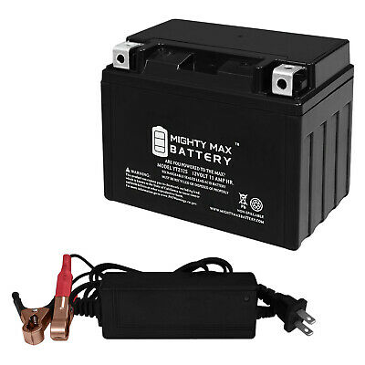 12V 1Amp Charger Mighty Max YTX7L-BS Battery for Honda 250 CMX250C Rebel 2015