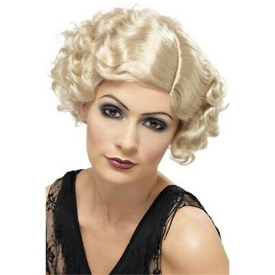 20s 30s Flapper Curly Bob FDC Wig Charleston Gangsters Moll WWII World war two