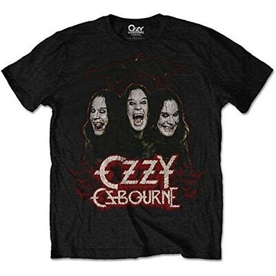Medium Black Men's Ozzy Osbourne Crows & Bars T-shirt - Mens Tshirt
