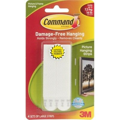 Large White Hanging Strips - Command Picture 3m Free Damage Poster 4 Frame