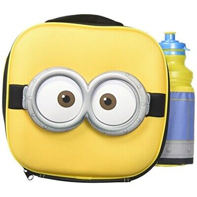 Despicable Me Minions 3d Thermal Lunch Bag With Sports Bottle - Box Drink Set