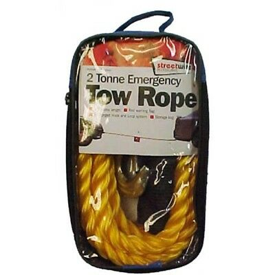 Streetwize 2t Tow Rope - 2 Tonne Yellow Swtr20