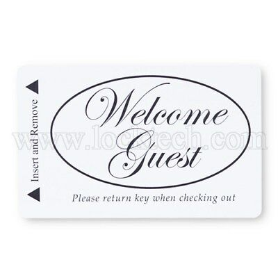 Welcome Guest Hotel Magstripe Combo 2,500 Keycards + 5,000 Envelopes Free Ship!