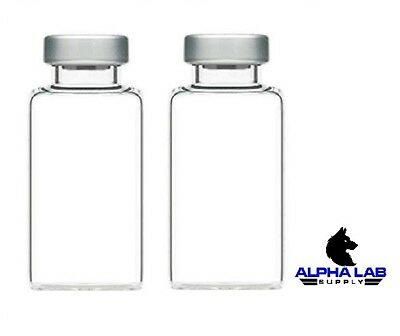 20mL Sterile Clear Glass Vials - 5 Pack - FREE SHIPPING - Alpha Lab Supply