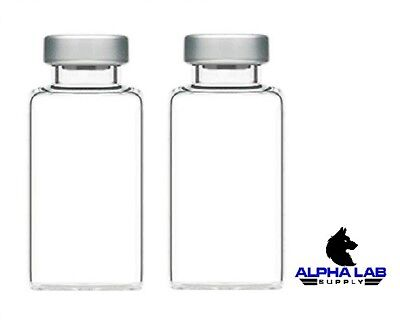 20mL Sterile Clear Glass Vials - 2 Pack - FREE SHIPPING