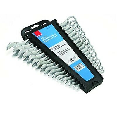 16 Pce Comb Spanners Metric - Hilka 16pc Combination Spanner Set Wrench Open
