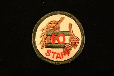 "BOY / CUB SCOUT ""OAK LEAF TRAINING - STAFF"" PATCH - BSA acorn patrol circle ten"