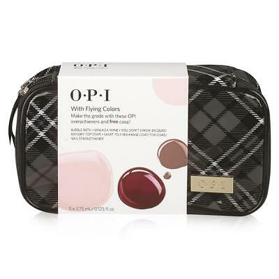 OPI NWT $28 With Flying Colors 5 Pack Nail Polish & Cosmetic Travel Case Set