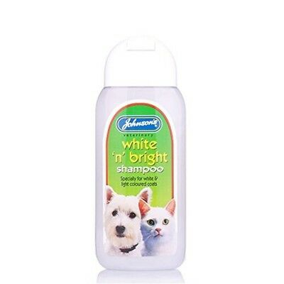 Johnsons Vet White 'n' Bright Shampoo, 125ml - Shampoo Dog Cat Puppy Deodorant