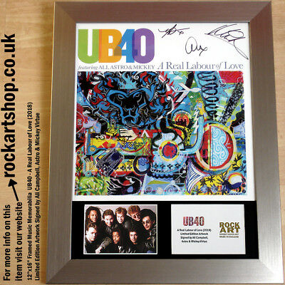UB40 A Real Labour of Love SIGNED ALI CAMPBELL +ASTRO +MICKEY VIRTUE *WORLD