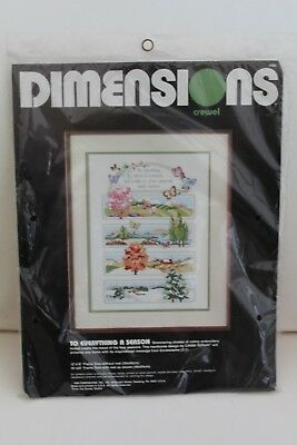 "Dimensions Crewel ""To Everything A Season"" Kit - Unopened"