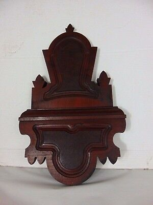 Antique Architectural Salvage Walnut Furniture Center Crest Crown Pediment !