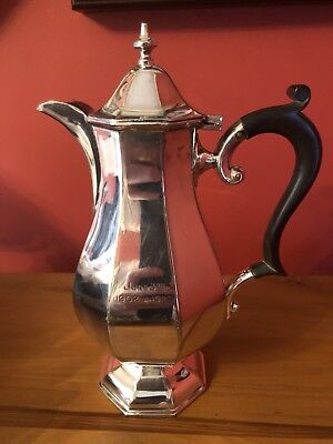 A Beautiful Antique Silver Plated Georgian Style Coffee Pot