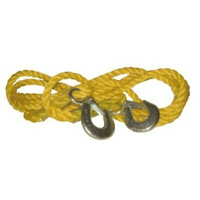 Streetwize Swtr15 Braided Tow Rope With 2 Metal S Hooks 1.5 T - Yellow - 15