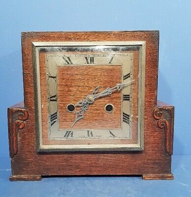 VINTAGE 1940s SMITHS ENFIELD ART DECO  STRIKING MANTEL CLOCK