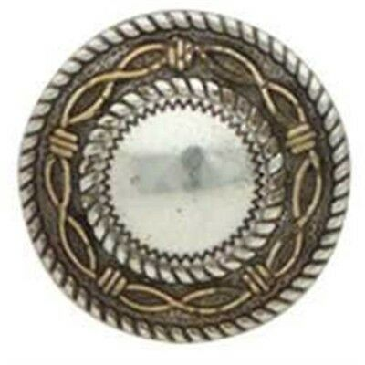 Silver & Gold Round Angel Fire Concho - Screwback 1