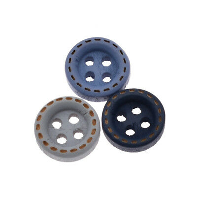 100 Pcs Pack Wooden Sewing Buttons Wood 4-holes for DIY Shirt Scrapbooking Craft
