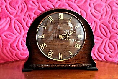 Vintage Art Deco 'Smiths' 4 Jewels 8-Day Mantel Clock