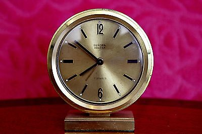 Vintage Rare & Original EUROPA DELUXE 7 JEWELS German Alarm clock