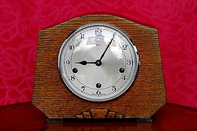 Vintage Art Deco 'Enfield' 8-Day Mantel Clock with Westminster Chimes