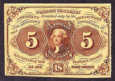 US 5c Fractional Currency Note 1st Issue with 'ABC' FR 1230 XF-AU (006)