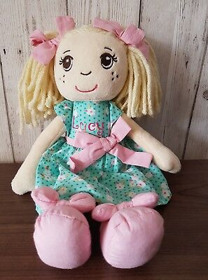 """Personalised Ragdoll soft cuddly toy ANYNAME Unique Gift 1st Birthday 12"""" blonde"""