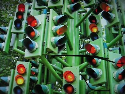 "SingleDialight LED Traffic Light 12""   RED, GREEN, YELLOW ARROW, OR , RED SOLID"