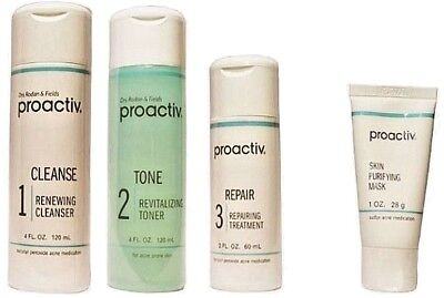 Proactiv 4pc 60 day Kit WITH Skin Purifying Mask Proactive 2020 Exp - BEST PRICE