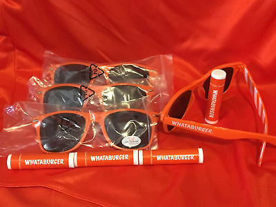 Whataburger Set of 4 Sunglasses & Lip Balm- New-Several sets available-LOT