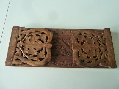 wooden heavily hand carved book slide shelf hard wood[Made in India]