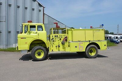 1970 Ford C700 Air Force P8 4X4 Fire Truck.