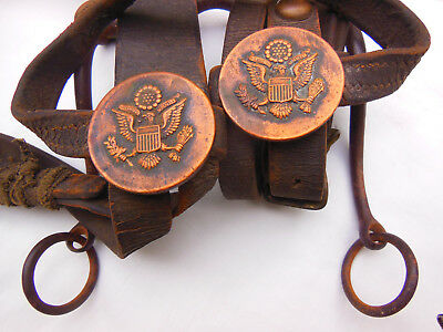 Antique Leather Bridle and Bit US Army Cavalry