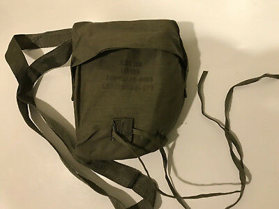 M249 Bandolier And Green Plastic Storage Box (Blank)  Used USGI