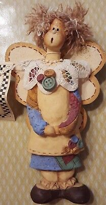 """Handmade Angel 8"""" by Designs by Diana Lmt Edition Self Standing"""