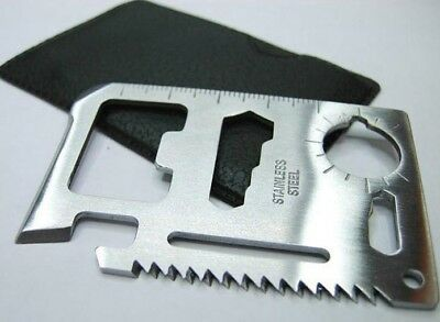 Camping Emergency Tool Multi Keying Cut Credit Card Bottle Opener Pocket Saw