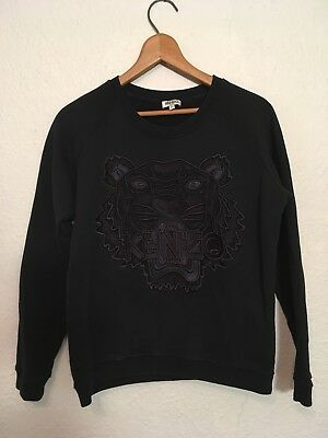 b3b70a49 Authentic Kenzo Tiger Embroidered Black Pullover Sweatshirt Women's XS US  Seller