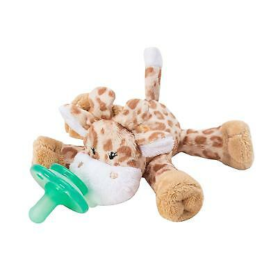 Nookums Paci-Plushies Brown Giraffe Buddies - Pacifier Holder Includes New