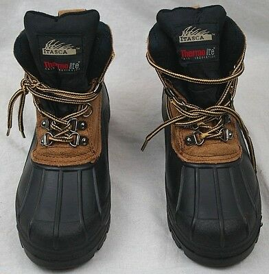 ITASCA Icebreaker boys waterproof boots size 2 leather upper