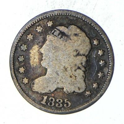 Rare - 1835 Capped Bust Half Dime - Tough to Find - US Early Silver Coin *368