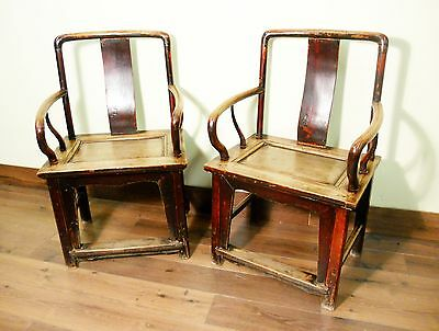 Antique Ming Arm Chairs (5478) (Pair) Circa 1800-1849