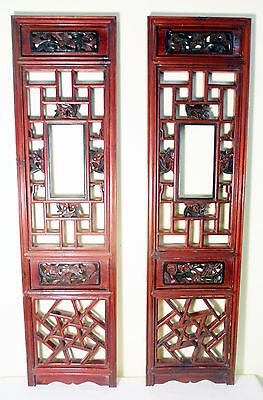 Antique Chinese Screen Panels (5118)(Pair) Cunninghamia Wood, Circa 1800-1849