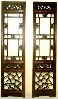 Antique Chinese Screen Panels (2834) (Pair) Cunninghamia Wood, Circa 1800-1849
