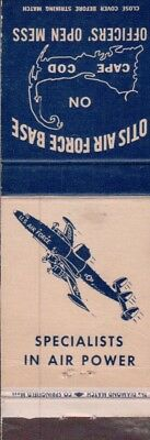 Military / Otis Afb ( Pic-Airplane ) Cape Cod Matchcover