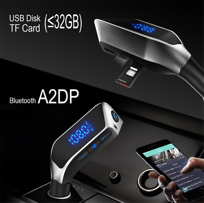 Bluetooth Handfree FM Transmitter Car MP3 Player Music 2USB For iPhone/Android